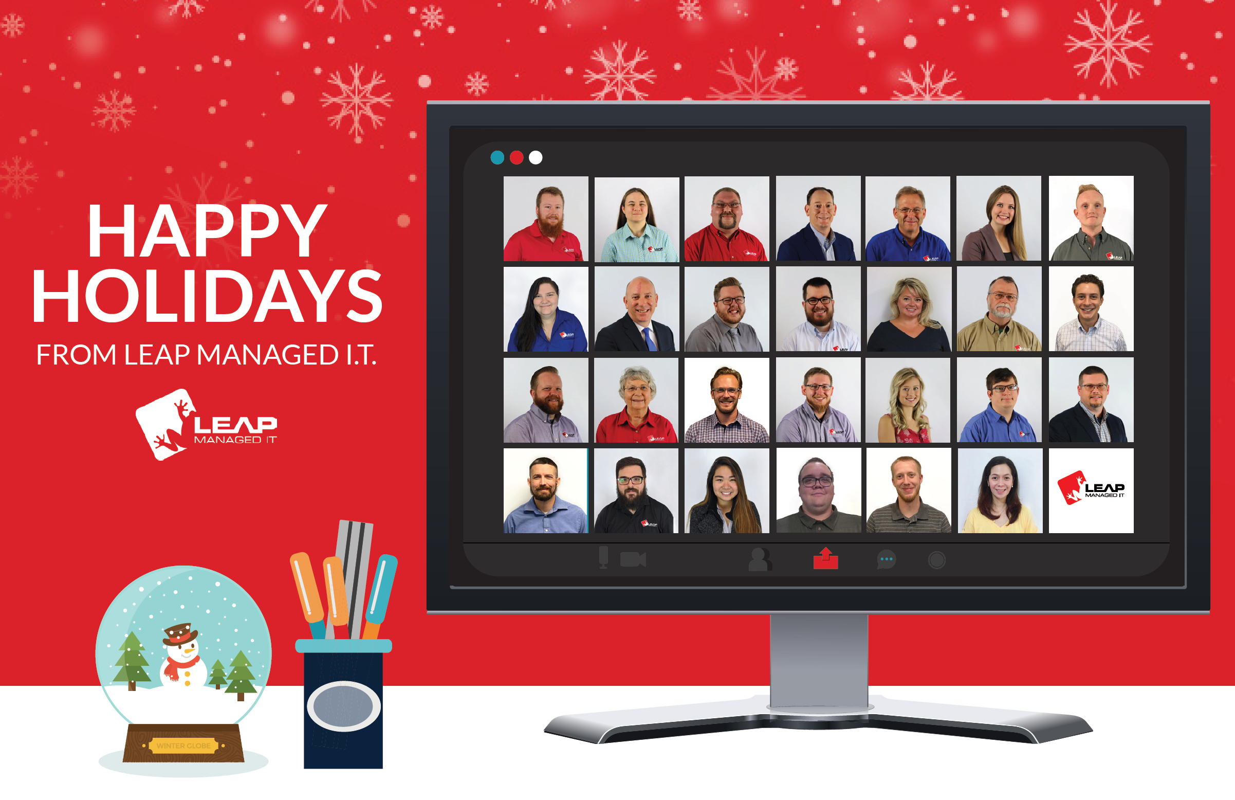 Happy Holidays from LEAP Managed IT