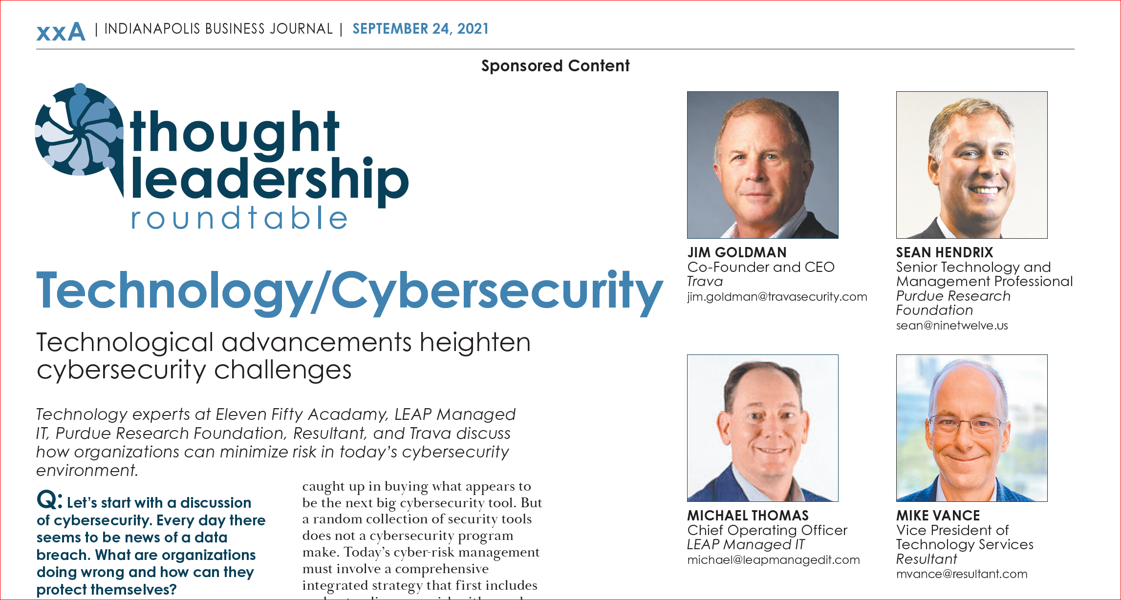 IBJ & LEAP Technology and Cybersecurity Roundtable Series